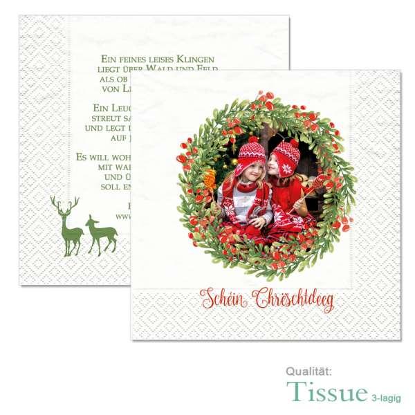 bedruckte Weihnachtsservietten als Geschenkidee