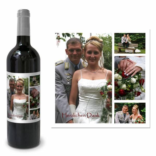 Weinetiketten zur Hochzeit mit Foto bedruckt