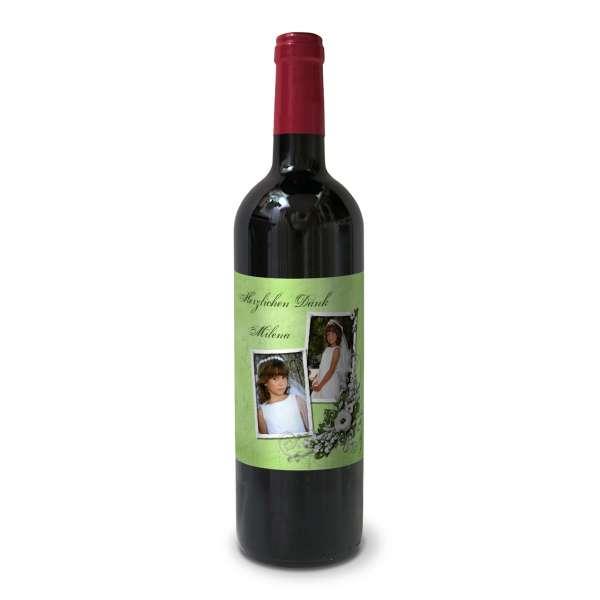 Weinetiketten Flaschenetiketten zur Kommunion bedrucken