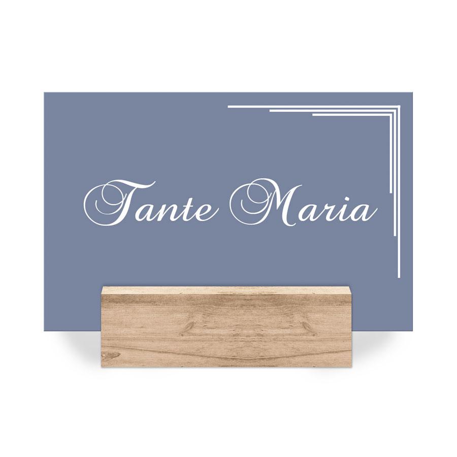 Platzkarten Tischkarten zur Hochzeit in Wunschfarbe